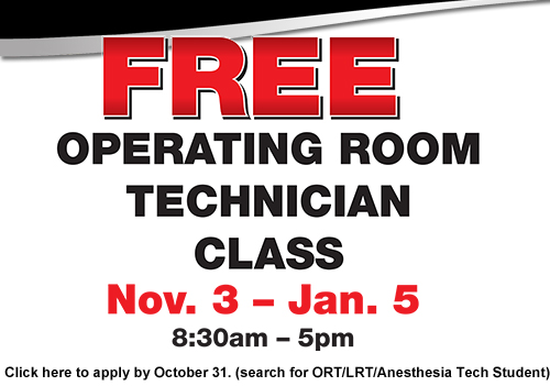 Free Operating Room Technician Class